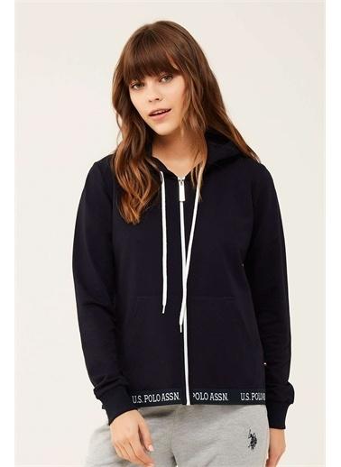 U.S. Polo Assn. U.S. Polo Assn. Kadın Lacivert Kapşonlu Ev Giyim Lacivert